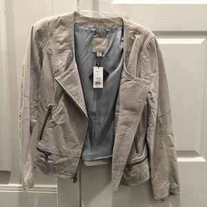 Grey leather jacket from Banana Republic NWT SZ M
